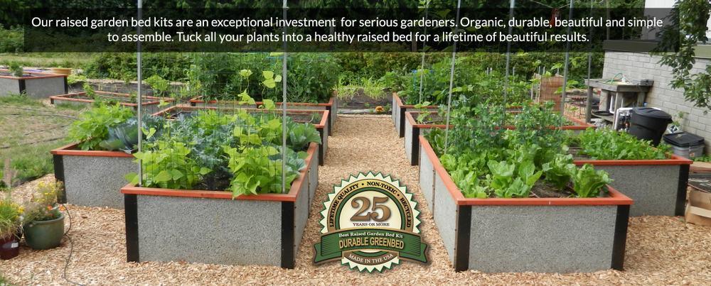 Durable raised bed garden kits