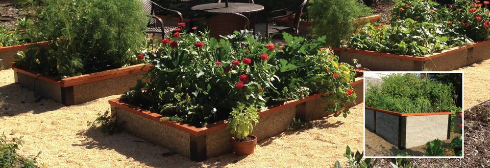 Wood Concrete Raised Bed Panels Durable Greenbed