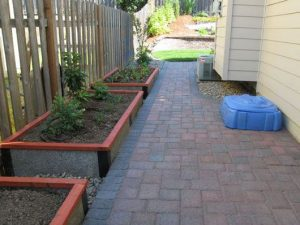 1' Durable Green Beds as landscape planters