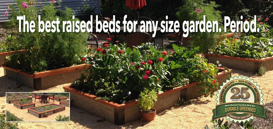Raised Garden Bed Kit Non Toxic Durable Greenbed