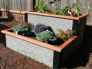 Attractive Small Tiered Raised Garden Bed Kit
