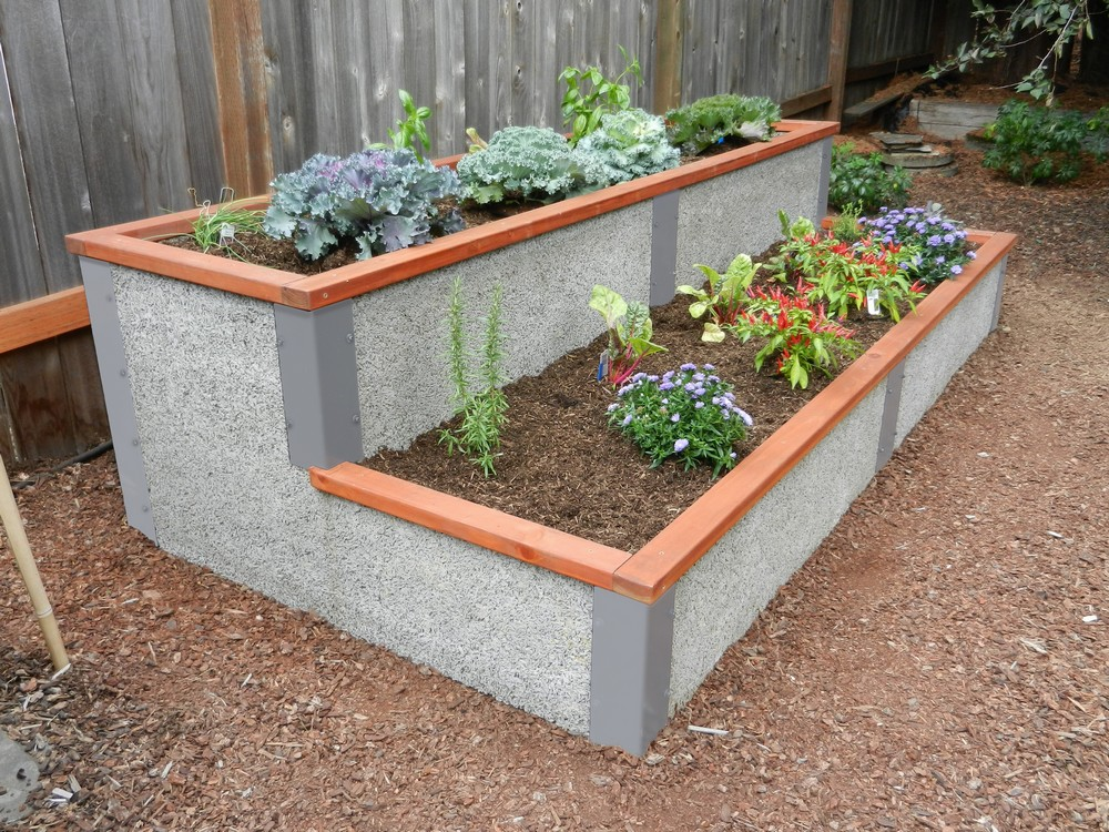 4 X8 Rectangle Tiered Elevated Garden Bed Kit By Durable Greenbed
