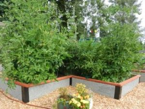 Perfect raised garden bed for corners