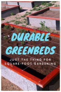 Square Foot Gardening in DurableGreenBed