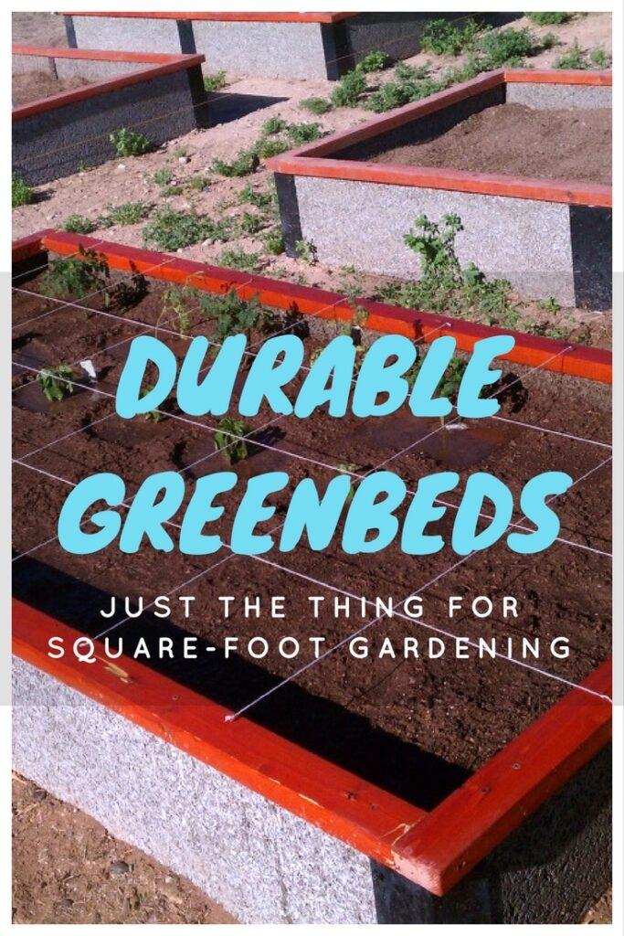 Square Foot Gardening in DurableGreenBed