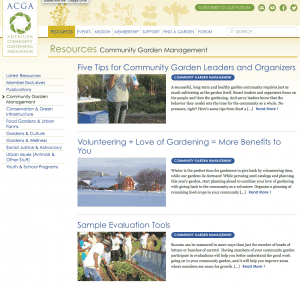 How to build a community garden ACGA resources