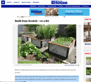 Raised Bed Kit in This Old House