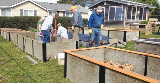 Yachats Community Garden Raised Beds