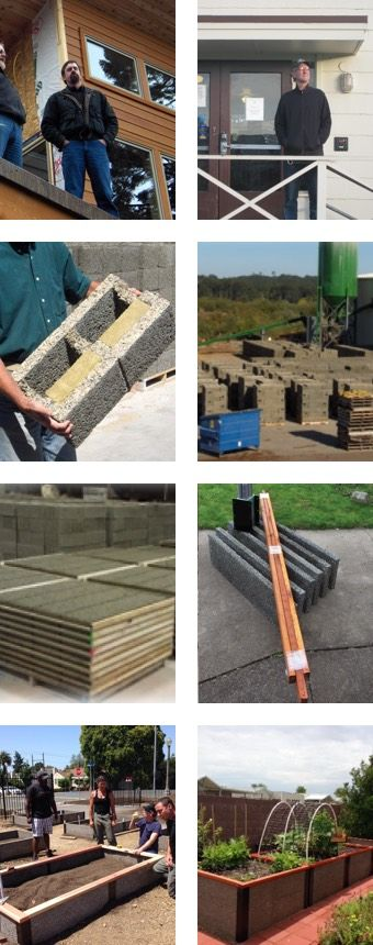 Shelterworks makes both Faswall ICF blocks and Durable GreenBed raised garden beds.